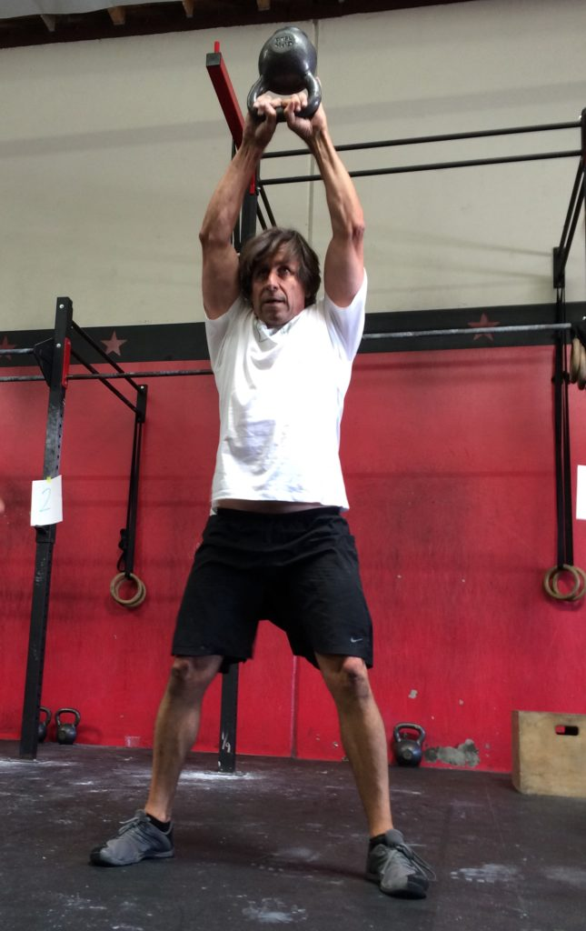 Ron goes for fast reps on the KB at Festivus Games